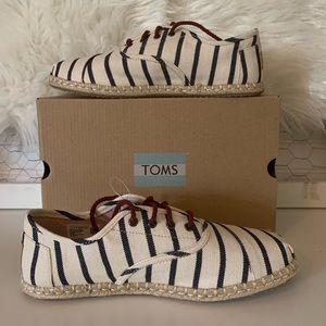Toms Cordones Natural Woven Rivera Stripe Sneaker